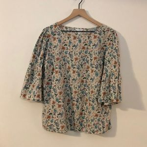 Time and Tru Floral Blouse - Size Large